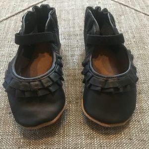 Robeez Soft Sole Black Shoes 12-18 months